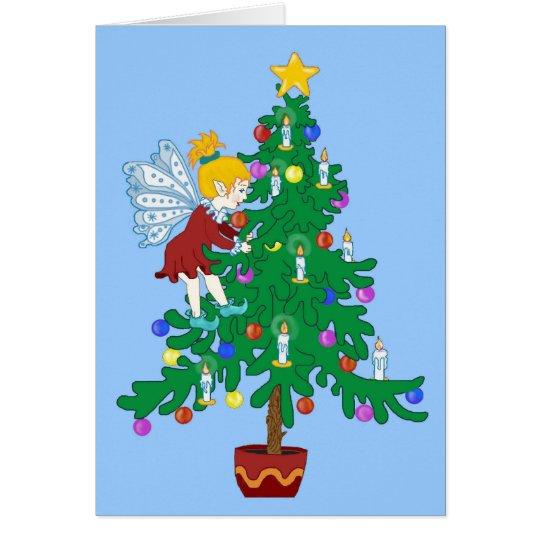Christmas Tree Elf Card