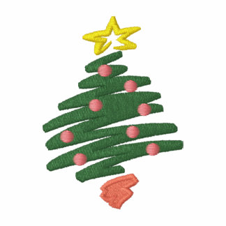 CHRISTMAS TREE EMBROIDERED SHIRT