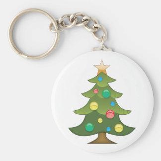 Christmas Tree Emoji Keychain