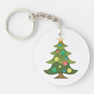 Christmas Tree Emoji Key Chain