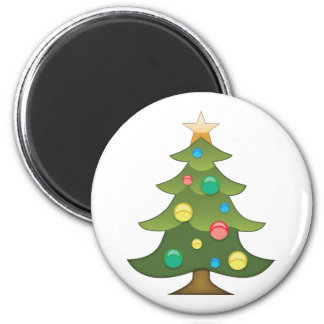 Christmas Tree Emoji Refrigerator Magnets