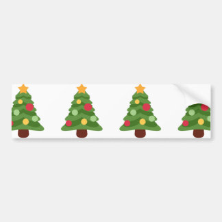 christmas tree emojis bumper sticker