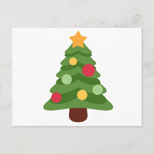 Christmas Tree Emoji.Christmas Tree Emojis Holiday Postcard