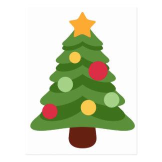 christmas tree emojis postcard