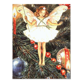 Christmas Tree Fairy 4.25x5.5 Paper Invitation Card