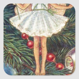 Christmas-Tree-Fairy.jpg Square Sticker