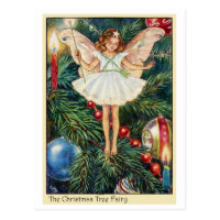 Christmas Tree Fairy Postcard
