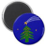 Christmas Tree Falling Star Fridge Magnet