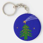 Christmas Tree Falling Star Keychain