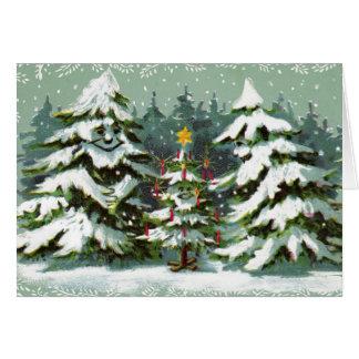 Christmas Tree Family Notecard
