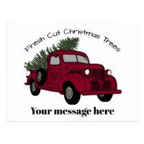 Christmas tree farm add message postcards