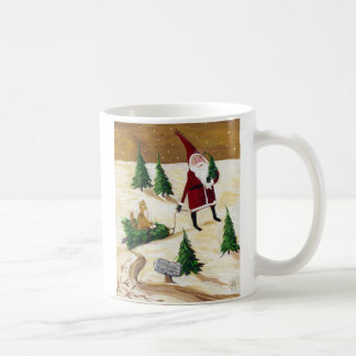 Christmas Tree Farm, Merry Christmas from St. Nick Coffee Mug