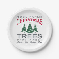 CHRISTMAS TREE FARM PAPER PLATE