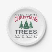 CHRISTMAS TREE FARM PAPER PLATE
