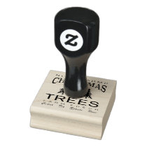 CHRISTMAS TREE FARM RUBBER STAMP