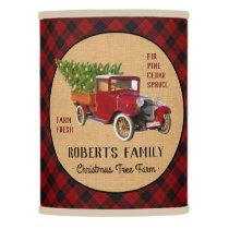 Christmas Tree Farm Vintage Truck Red Plaid Rustic Lamp Shade