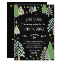 Christmas Tree Farm Winter baby shower invite