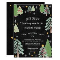 Christmas Tree Farm Winter baby shower invite