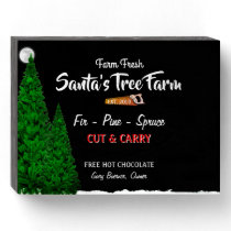 Christmas Tree Farm Wood Box Sign Placques