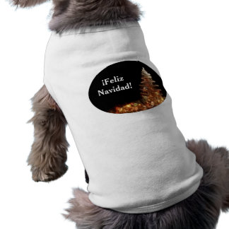 Christmas Tree - ¡Feliz Navidad! Dog Tee Shirt