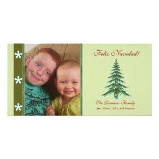 Christmas Tree Feliz Navidad Photo Holiday Card