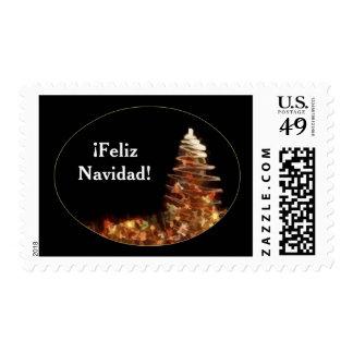 Christmas Tree - ¡Feliz Navidad! Postage Stamps
