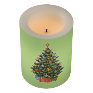 Christmas Tree Flameless Candle