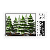 Christmas Tree Forest Postage