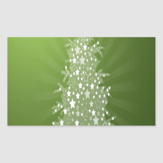 Christmas tree freebie design rectangular sticker