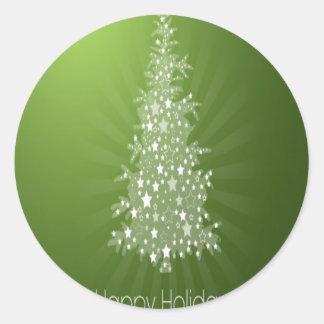 Christmas tree freebie design round sticker