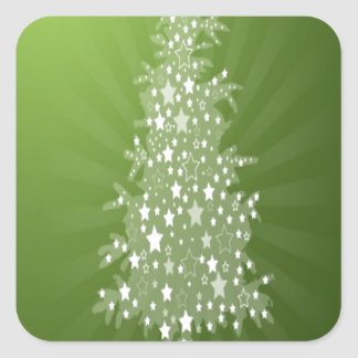 Christmas tree freebie design square sticker