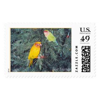 Christmas Tree Friends - postage