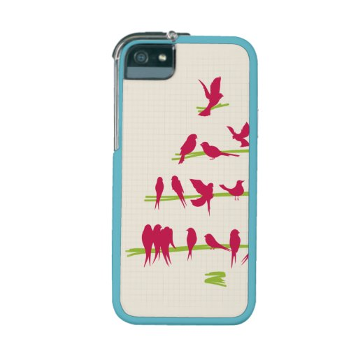 Christmas Tree full of Cheerful Red Birds iPhone 5 Cover
