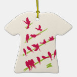 Christmas Tree full of Cheerful Red Birds Christmas Ornament