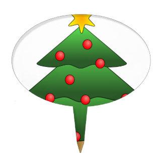 Christmas Tree Fun Cake Pick