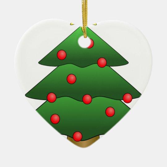 Christmas Tree Fun Ceramic Ornament