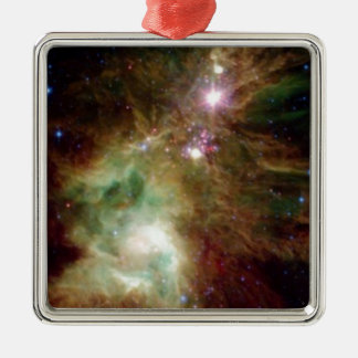 Christmas Tree Galaxy Metal Ornament