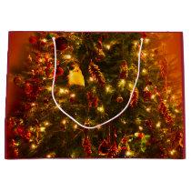 Christmas Tree Gift Bag - Large, Glossy