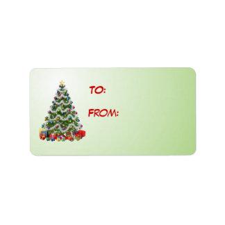 Christmas Tree Gift label