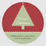 Christmas Tree Gift Message Sticker