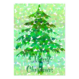 Christmas tree - Gift tag card Large Business Cards (Pack Of 100)