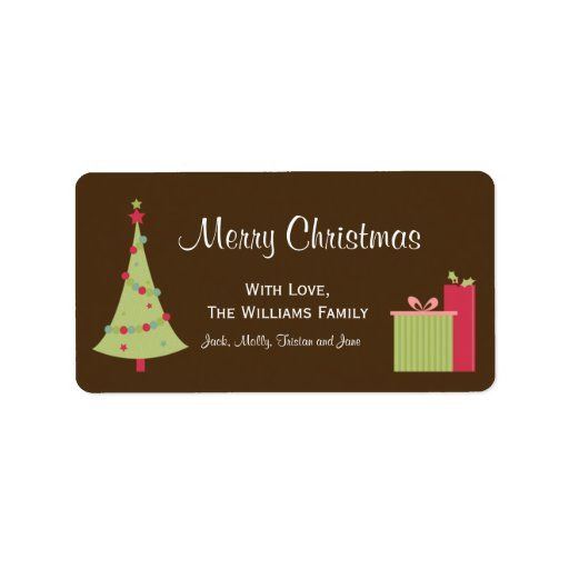 Christmas Tree Gift Tag Labels
