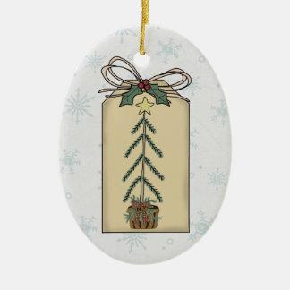 Christmas Tree Gift Tag Ornament