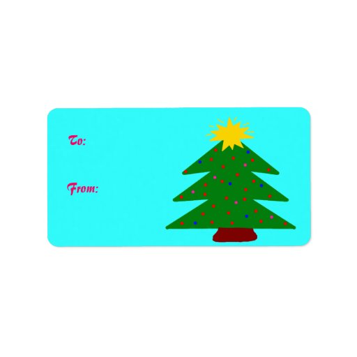 Christmas Tree Gift Tags Custom Address Labels