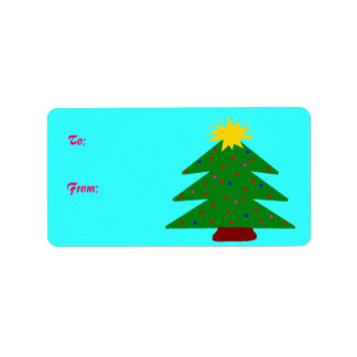 Christmas Tree Gift Tags Label