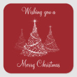 Christmas tree gift wrap stickers