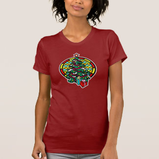Christmas tree gifts & stained glass window shirt