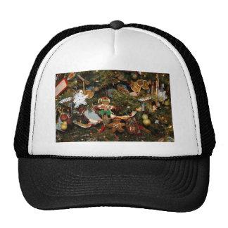 Christmas tree ginger man decoration mesh hats