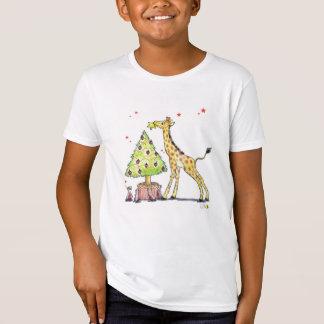Christmas tree & giraffe - christmas festive T-Shirt