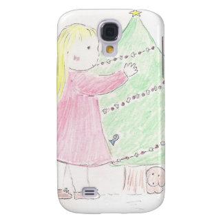 Christmas Tree Girl Galaxy S4 Cover